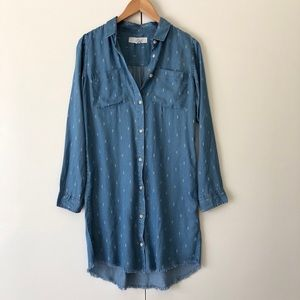 Thread & Supply Chambray Button Down Shirt Dress